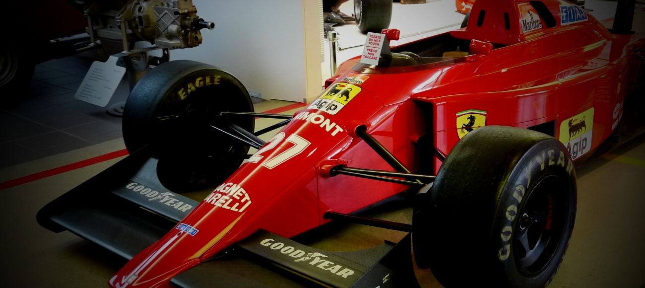 Ferrari FormulaUno cars at ferrari Museum in Maranello on transfer tour Milan from to florence with stop at the Ferrari Museum and factory