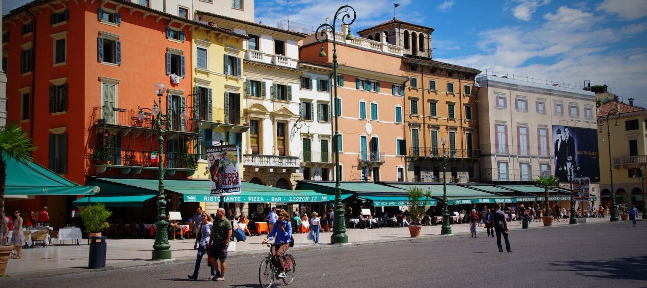 Piazza Bra you will visit during your Verona Private Tour